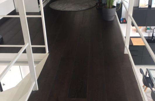 Pavimento in legno Wengé Plancia Rovere Europeo spazzolato