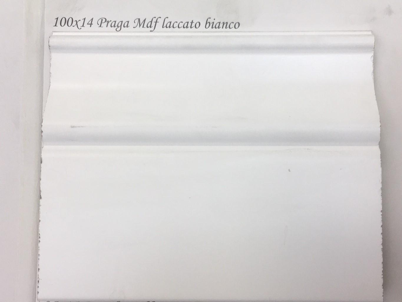 Battiscopa MDF Praga laccato bianco