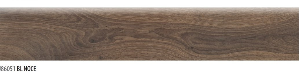 Battiscopa in gres effetto legno Noce 8x45