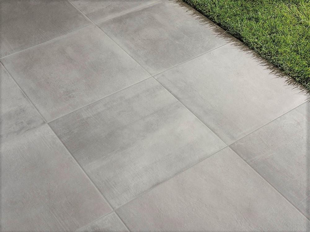 Pavimento in gres galleggiante Light Grey 75x75 2cm di spessore