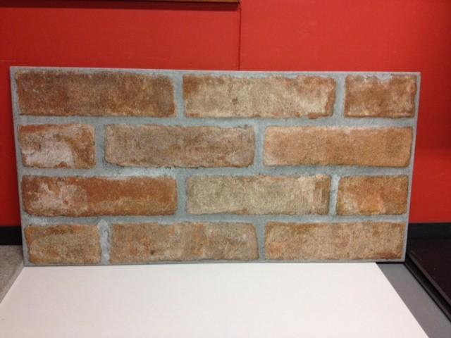 Effetto muretto in gres porcellanto smaltato mattone cotto for Mattonelle da muro