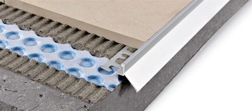Sgocciolatoio a pezzo unico in alluminio per piastrella