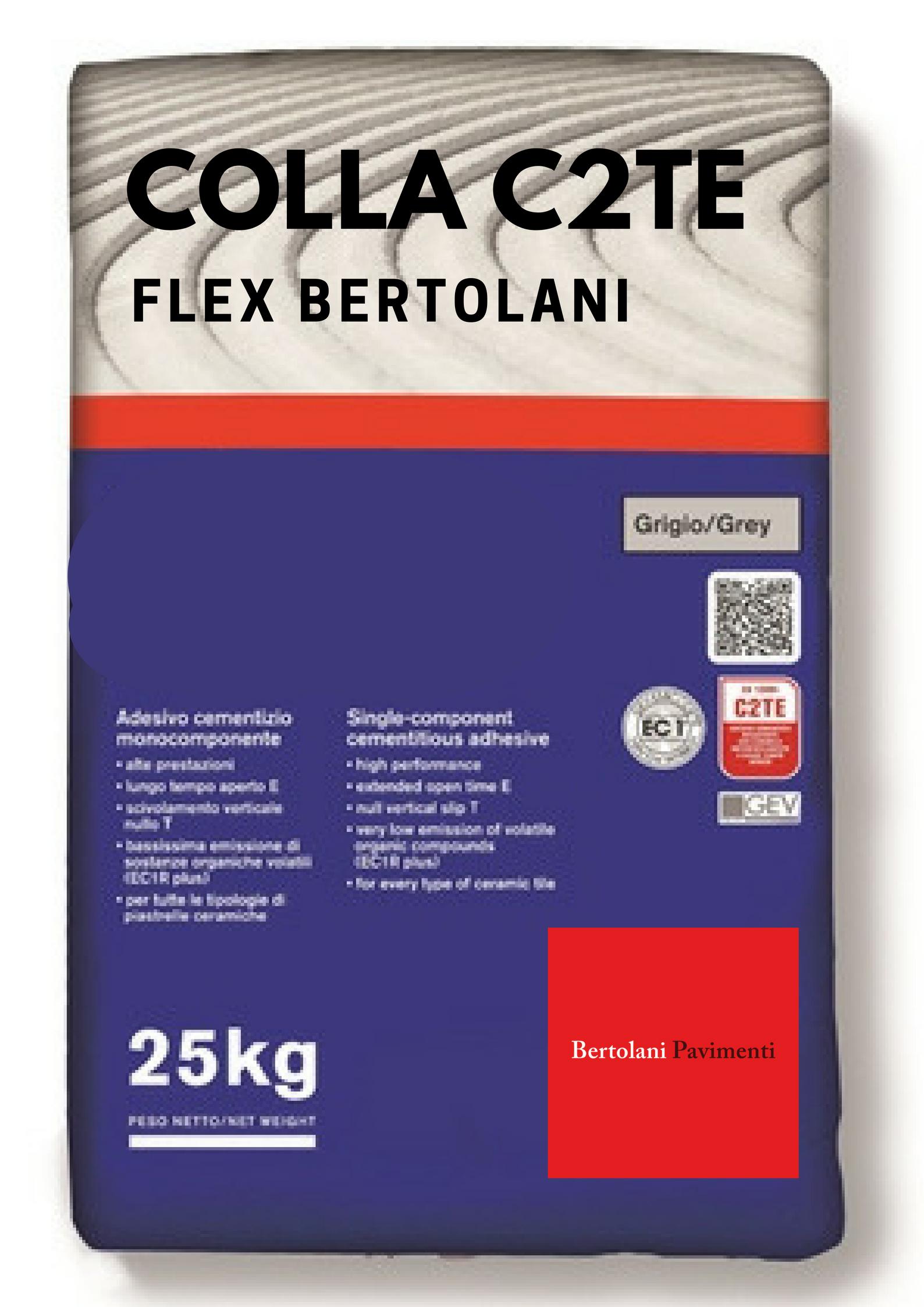 Colla Grigia e Bianca C2TE Flex con un sacco si posano 6mq similare H40 kerakoll