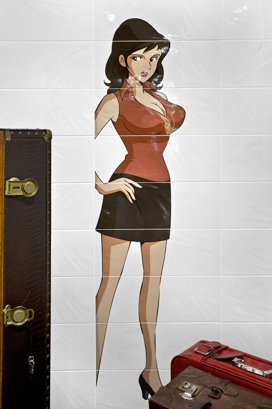 Composizione decorativa 50x180 Fujiko Serie Lupin 3th