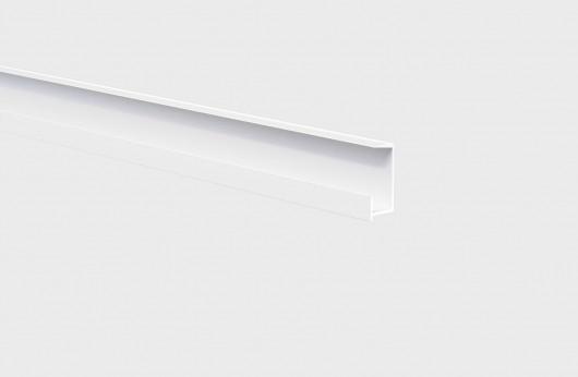 Listello decorativo in alluminio laccato Bianco con soluzione Led